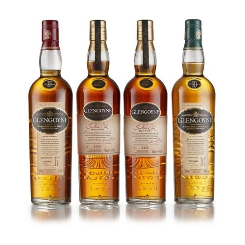 55 - TWO BOTTLES OF GLENGOYNE SCOTTISH OAK WOOD FINISH <br> <br>bottles numbers 2926 and 2442, each with ...