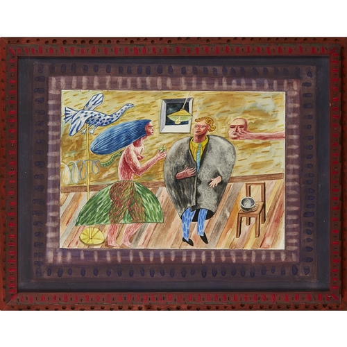 40 - [§] JAMES COSGROVE R.S.W., R.G.I. (SCOTTISH B.1939)<br><br>TEMPTATION <br><br>Signed and dated '86, ...