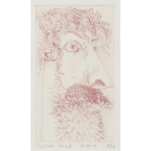 60 - [§] JOHN BYRNE (SCOTTISH B.1940)<br><br>CERISE HEAD <br><br>Signed and inscribed with title in penci...