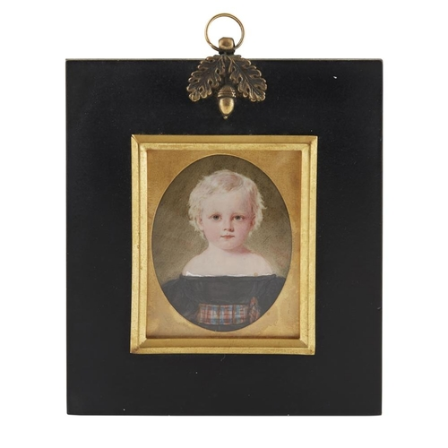 12 - HERMAN (FL. C. 1820-1840)<br><br>A PORTRAIT MINIATURE OF A SCOTTISH BOY AND GIRL, CIRCA 1840 <br><br...