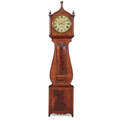 21 - A SCOTTISH GEORGE III MAHOGANY LONGCASE CLOCK BY CHARLES SHEDDEN, PERTH<br><br>MID-19TH CENTURY <br>...