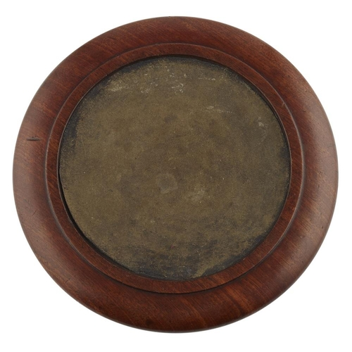 22 - A SCOTTISH REGENCY MAHOGANY WINE COASTER BY JAMES MEIN, KELSO<br><br>CIRCA 1830 <br><br>the turned a...