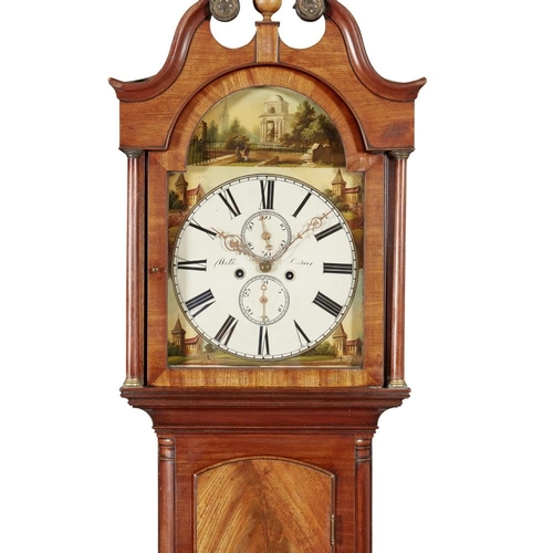 5 - AN EARLY VICTORIAN MAHOGANY CASED LONGCASE CLOCK BY ROBERT WILKIE, CUPAR<br><br>CIRCA 1840 <br><br>t...