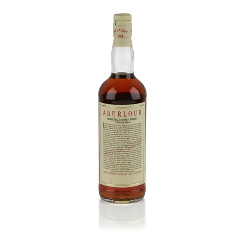600 - ABERLOUR VINTAGE 1964 25 YEAR OLD <br> <br>bottled in 1989, with presentation case and key <br> <br>...