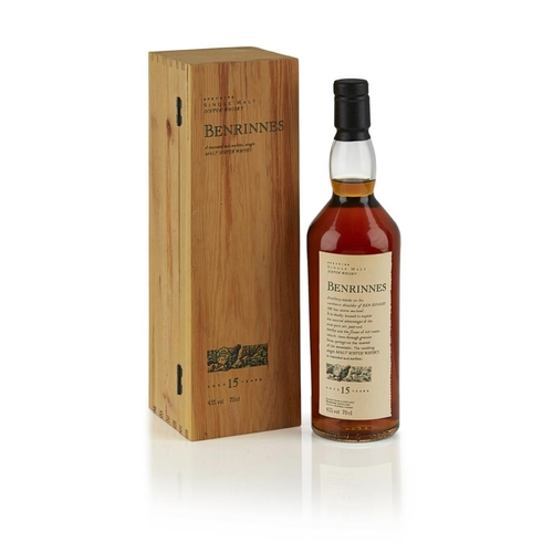 603 - BENRINNES 15 YEAR OLD - FLORA AND FAUNA <br> <br>with wooden presentation case, 70cl/ 43%; together ...
