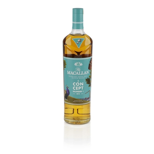 615 - THE MACALLAN CONCEPT NUMBER ONE 2018 RELEASE <br> <br>with carton <br> <br>70cl/ 40%...