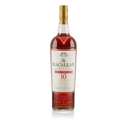 617 - THE MACALLAN 10 YEAR OLD CASK STRENGTH <br> <br>matured in sherry casks from Jerez, Spain, non-chill...