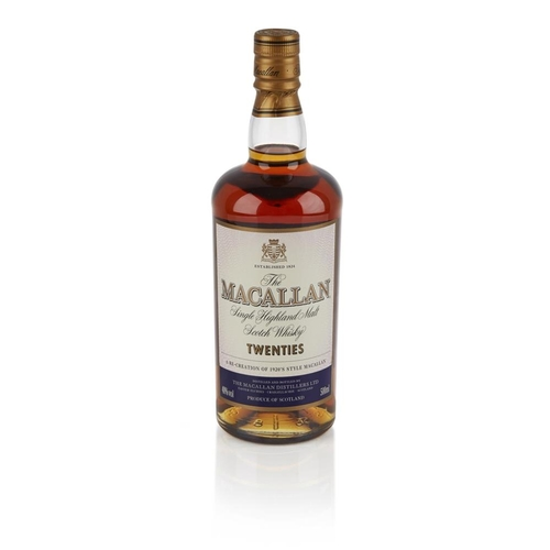 618 - THE MACALLAN TWENTIES <br> <br>a re-creation of 1920's style Macallan, with carton <br> <br>50cl/ 40...