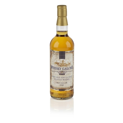 624 - THE MACALLAN 1989 - WHISKY GALORE <br> <br>with carton <br> <br>70cl/ 40%...