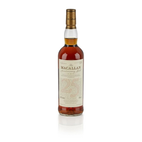 625 - THE MACALLAN 1975 25 YEAR OLD ANNIVERSARY MALT <br> <br>bottled in 2000, with wooden presentation ca...