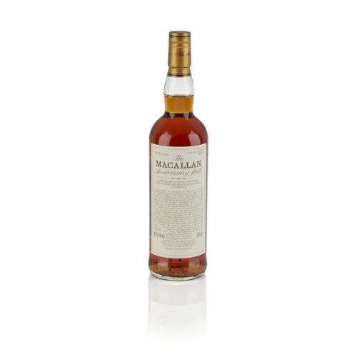 626 - THE MACALLAN 25 YEAR OLD ANNIVERSARY MALT <br> <br>non-vintage example <br> <br>70cl/ 43%...