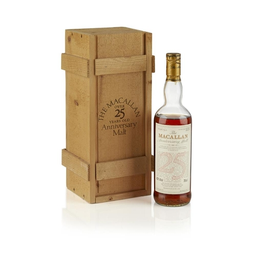 627 - THE MACALLAN 1971 25 YEAR OLD ANNIVERSARY MALT <br> <br>bottled in 1997, matured in sherry casks, wi...