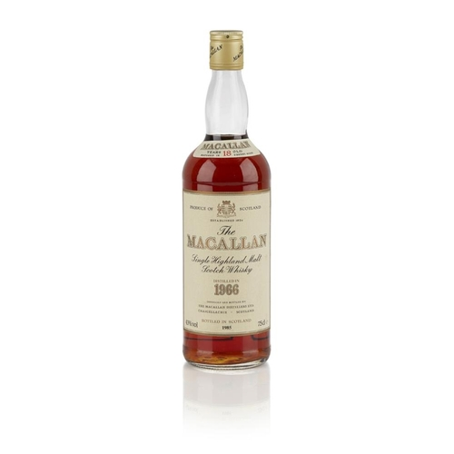 628 - THE MACALLAN 1966 18 YEAR OLD <br> <br>matured in sherry casks, bottled in 1985 <br> <br>75cl/ 43% <...