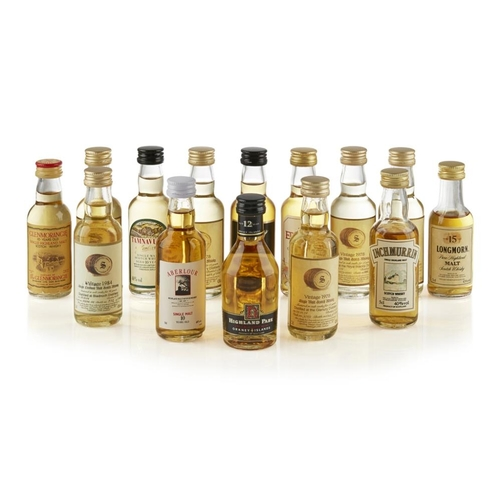 635 - A COLLECTION OF MINIATURES <br> <br>to include various Signatory vintage bottlings and other single ...