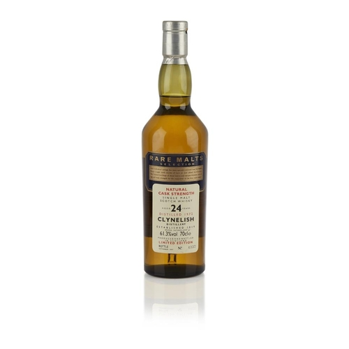 636 - CLYNELISH 1972 24 YEAR OLD - RARE MALTS <br> <br>bottle number 4337 <br> <br>70cl/ 61.3%...