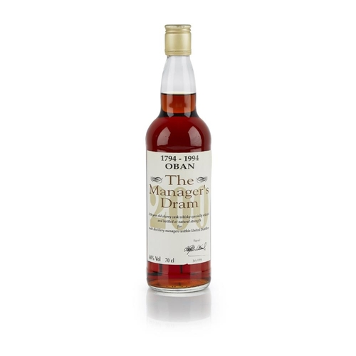 638 - OBAN 16 YEAR OLD BICENTENARY EDITION - THE MANAGER'S DRAM <br> <br>matured in Sherry casks and bottl...