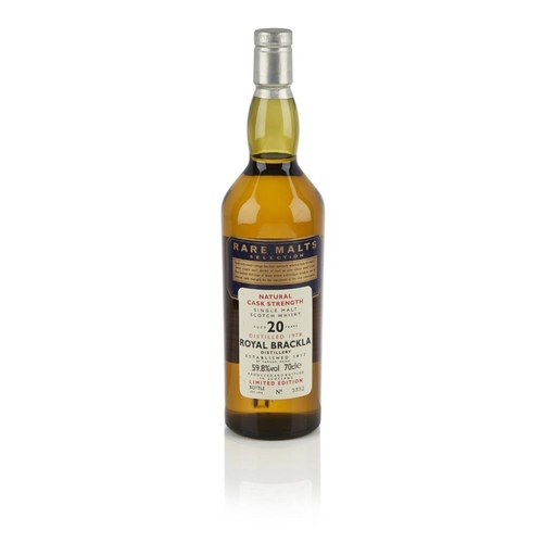 641 - ROYAL BRACKLA 1978 20 YEAR OLD - RARE MALTS <br> <br>bottle number 3392, natural cask strength, with...