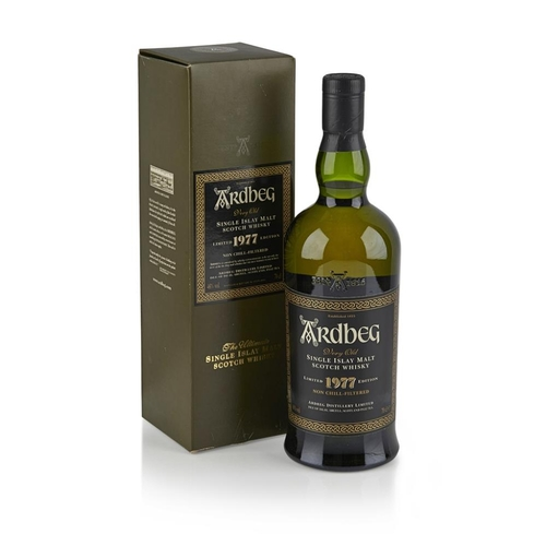 656 - ARDBEG 1977 <br> <br>non chill-filtered, with carton <br> <br>70cl/ 46% <br>Note: Considered a class...