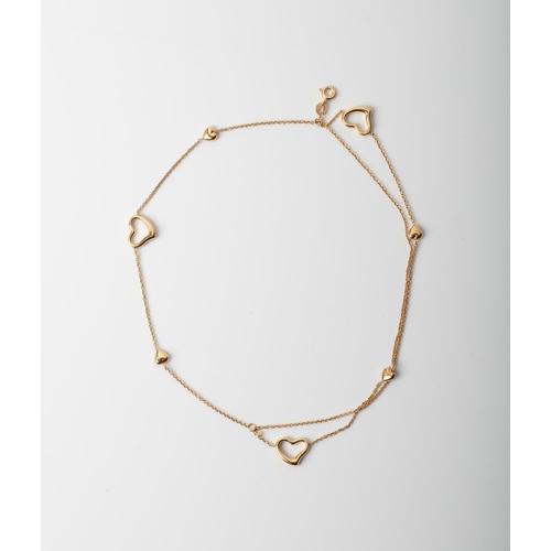 8 - A 9CT GOLD & SILVER BONDED HEART BRACELET A 18cm long triple strand heart bracelet crafted in 1/10 9...