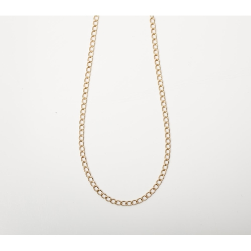 19 - A 9CT GOLD AND SILVER BONDED FANCY LINK CHAIN A 45cm long Fancy Link chain crafted in 1/10 9ct yello...