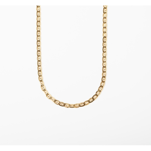 31 - A 9CT GOLD MARINER LINK CHAIN A 55cm long Mariner chain crafted in 9ct yellow gold weighing 6.29 gra...