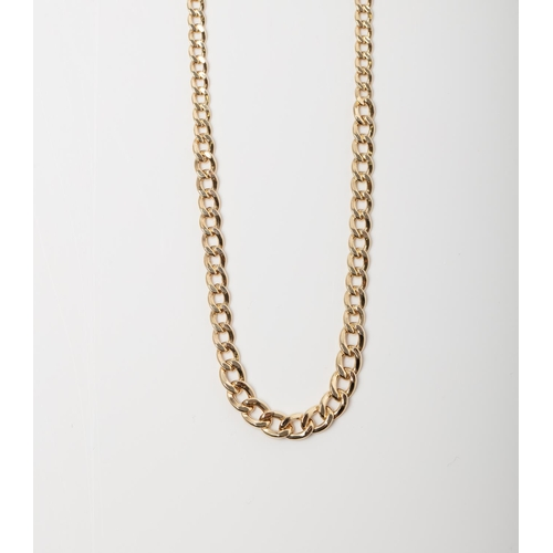 48 - A 9CT GOLD CURB CHAIN A 45cm long Curb chain crafted in 9ct yellow gold weighing 5.24 grams....
