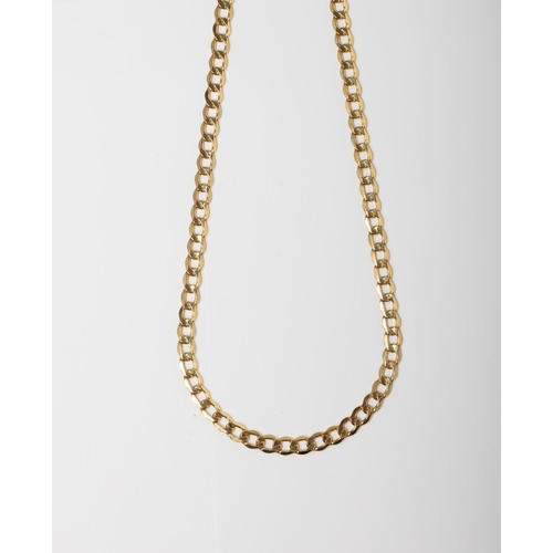 50 - A 9CT GOLD CURB CHAIN A 50cm long Curb chain crafted in 9ct yellow gold weighing 7.04 grams....