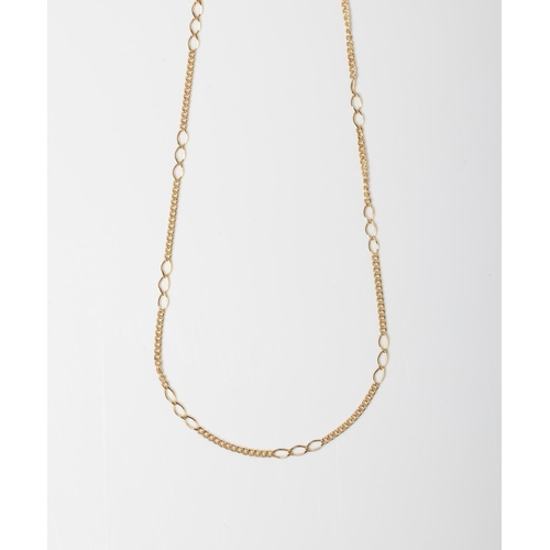 52 - A 9CT GOLD FANCY FIGARO CHAIN A 50cm long Figaro chain crafted in 9ct yellow gold weighing 1.7 grams...