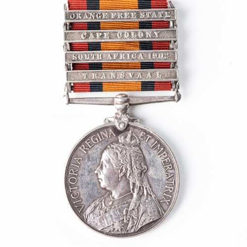 10 - BOER WAR QUEEN'S SOUTH AFRICA MEDAL TO PROVISIONAL MOUNTED POLICE AND MINE DIVISION RAND RIFLES Four...