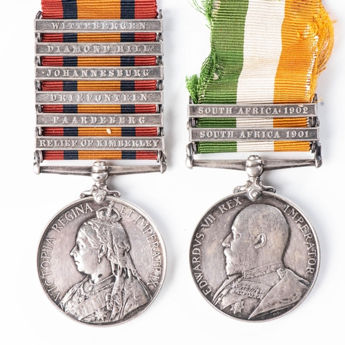 11 - BOER WAR PAIR FOR RELIEF OF KIMBERLEY, CAPTURE OF CONJE, CAPTURE OF JOHANNESBURG AND PRETORIA TO 12T...