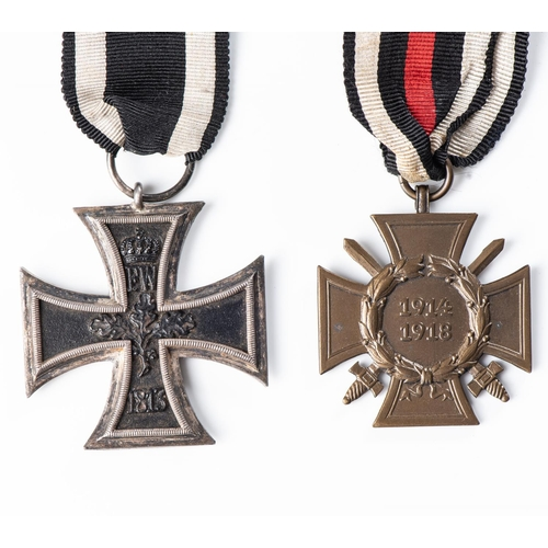 19 - IMPERIAL GERMANY – IRON CROSS. 2nd CLASS Imperial Germany – Iron Cross 2nd Class and 1914-18 Hin...