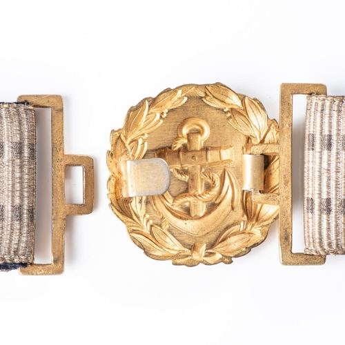 20 - IMPERIAL GERMAN NAVY (KAISERLICHE MARINE) OFFICER'S BROCADE PARADE BELT Imperial German Navy (Kaiser...