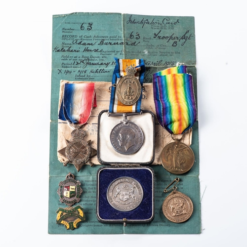 22 - GERMAN SOUTH WEST AFRICA WWI TRIO.  1914-15 STAR BRITISH WAR MEDAL & VICTORY MEDAL All officially na...