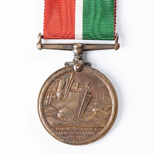 24 - BRONZE MERCANTILE MARINE 1914-18 MEDAL Named to a South African E Buhler.   The South African issue ...