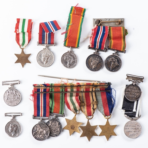 31 - LOT OF 14 WW2 ASSORTED MINIATURE DRESS MEDALS Many silver....
