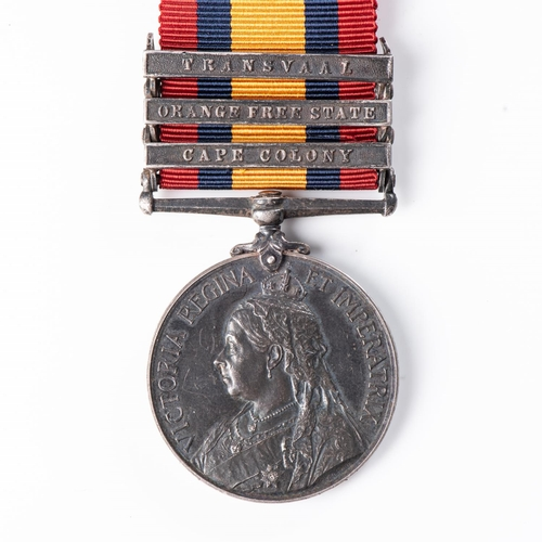 4 - BOER WAR QUEEN'S SOUTH AFRICA MEDAL TO SOUTH AFRICAN CONSTABULARY Three clasps, Cape Colony, Orange ...