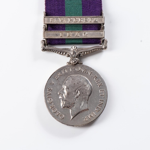 54 - GENERAL SERVICE MEDAL (GEORGE V) CLASPS IRAQ AND NW PERSIA General Service Medal (George V) clasps I...