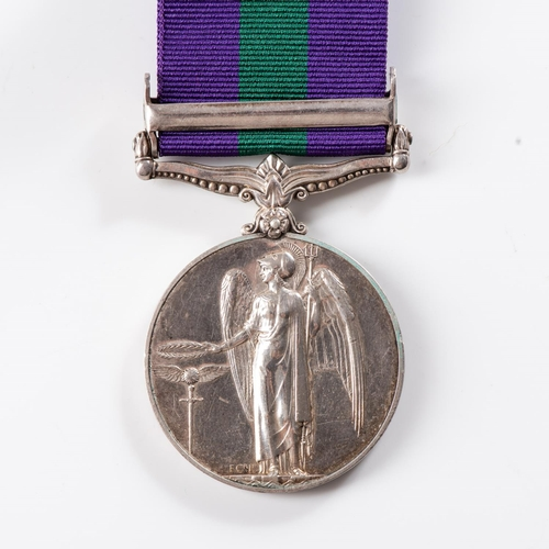 55 - GENERAL SERVICE MEDAL (GEORGE VI) CLASP PALESTINE 1945-48 General Service Medal (George VI) clasp Pa...