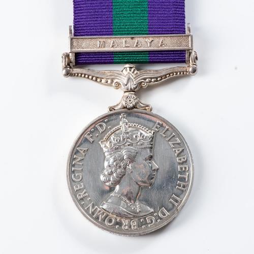 58 - GENERAL SERVICE MEDAL (ELIZABETH II) CLASP MALAYA General Service Medal (Elizabeth II) clasp Malaya ...