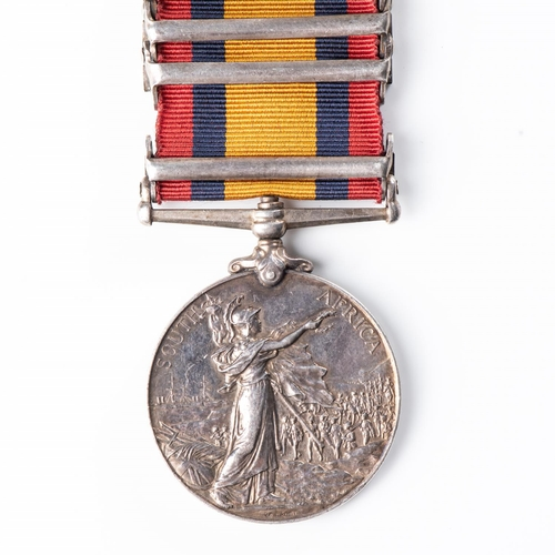 7 - BOER WAR QUEEN'S SOUTH AFRICA MEDAL TO NATAL POLICE Four clasps, Natal, Orange Free State, Transvaal...