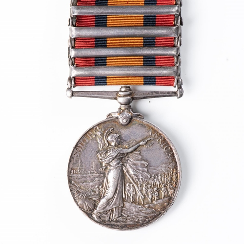 8 - BOER WAR QUEEN'S SOUTH AFRICA MEDAL TO SOUTH AFRICAN CONSTABULARY Five clasps, Cape Colony, Orange F...