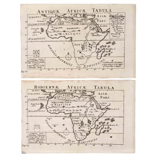 ANTIQUAE AFRICAE TABULA & HODIERNAE AFRICAE TABULA, TWO MAPS