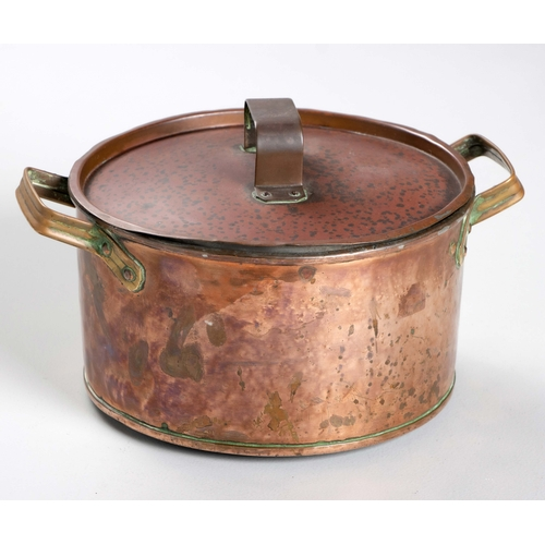 49 - A COPPER POT AND COVER...