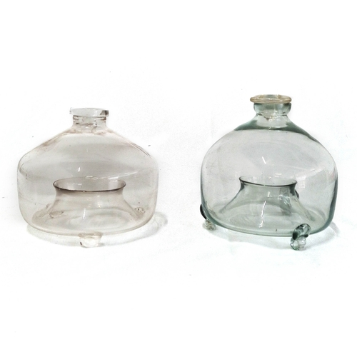 60 - A GLASS FLY TRAP AND COVER, 19TH CENTURY...