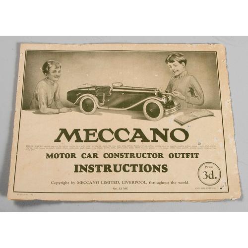 64 - AN UNUSED MECCANO MOTOR CAR CONSTRUCTOR SET NUMBER 2, CIRCA 1930...