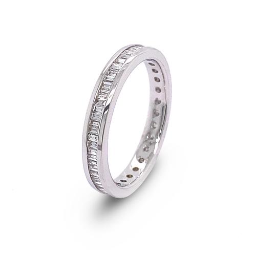 30 - A CHANNEL SET FULL ETERNITY DIAMOND RING <br /><br />A Channel Set Full Eternity Diamond Ring in 18K...