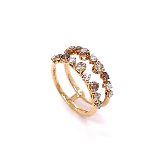 44 - A SPLIT SHANK DIAMOND DRESS RING <br /><br />A Split Shank Diamond Dress ring crafted in 18K Rose Go...