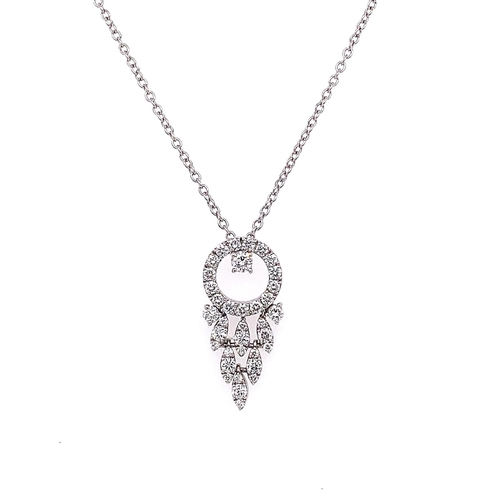 49 - A FANCY DIAMOND DROP PENDANT <br /><br />A Fancy Diamond Drop Pendant crafted in 18K White Gold, set...