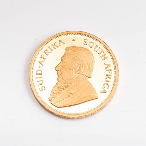 113 - A GOLD PROOF KRUGERRAND 1 OZ  OUNCE BOXED Minted 1986