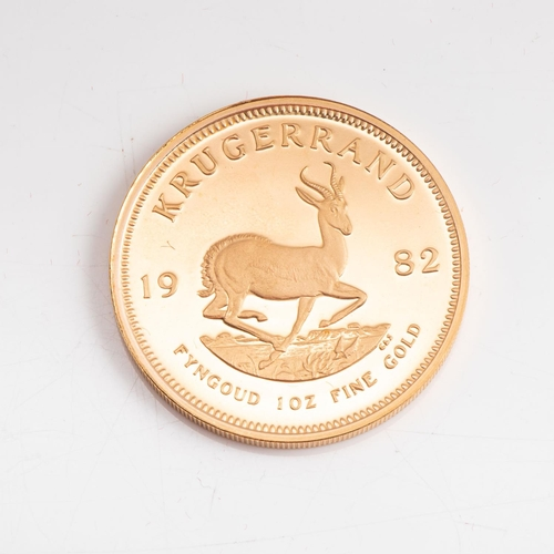 114 - A GOLD PROOF KRUGERRAND 1 OZ  OUNCE BOXED Minted 1982